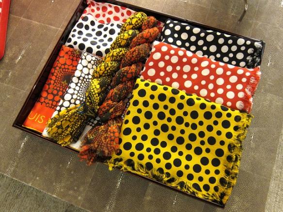 Kusama Polka Dot Louis Vuitton Scarves