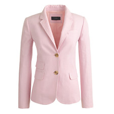 J Crew Schoolboy Blazer in Pink Linen $129 on sale!