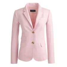 J Crew Schoolboy Blazer in Pink Linen $129 on sale!