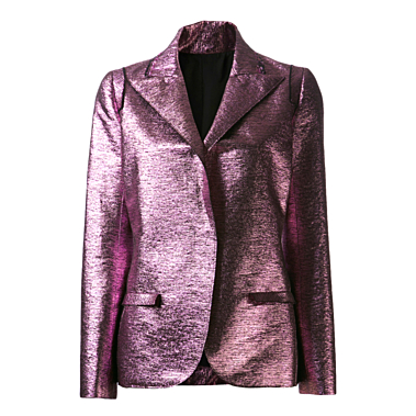 Lanvin Fitted Metallic Lame Blazer Kirna Zabete $3490