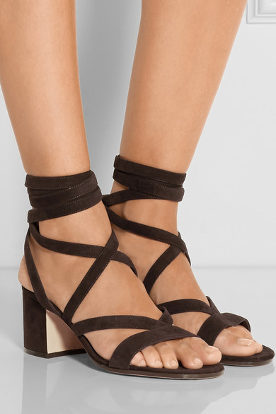 18b1e0c9991 ... Gianvito Rossi s suede low wrap sandals  541422 fr pp. There is a  dizzying array of styles and designers offering up the loveliest lace ups