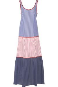 Lisa Marie Fernandez cotton-poplin tiered dress